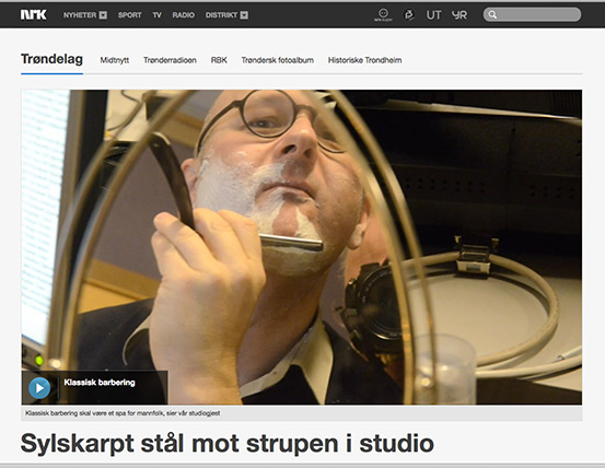 Check out the web page from my visit in the NRK radio studio.