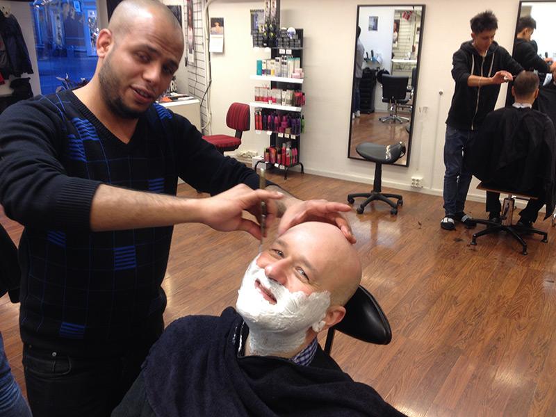Barbereren var kjapp og lett på hånden