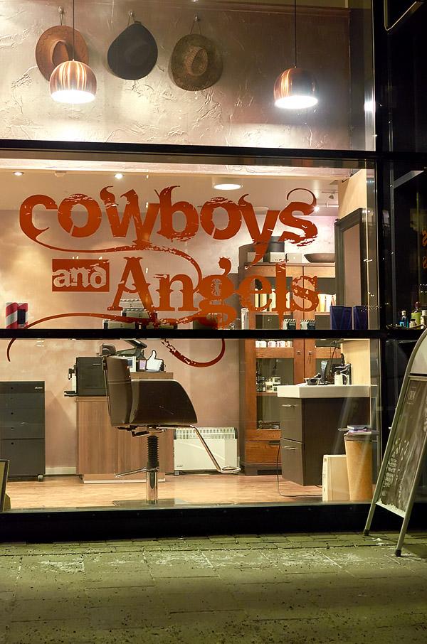 Cowboys and Angels barbershop in Trondheim